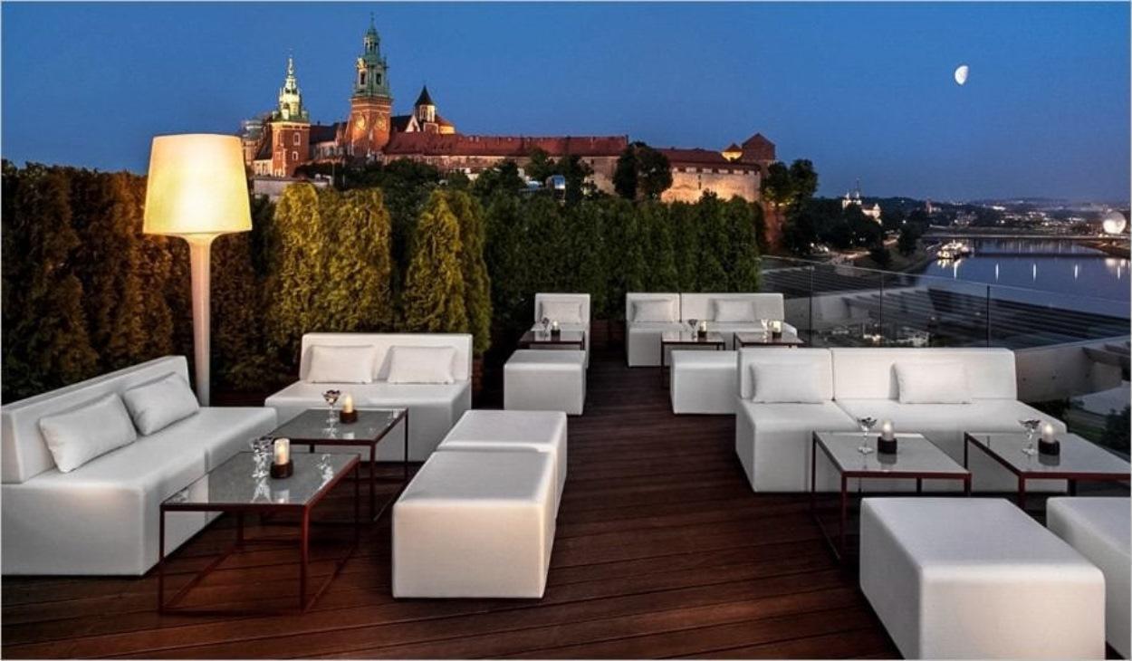Terrasse de l'hôtel Sheraton Grand Krakow