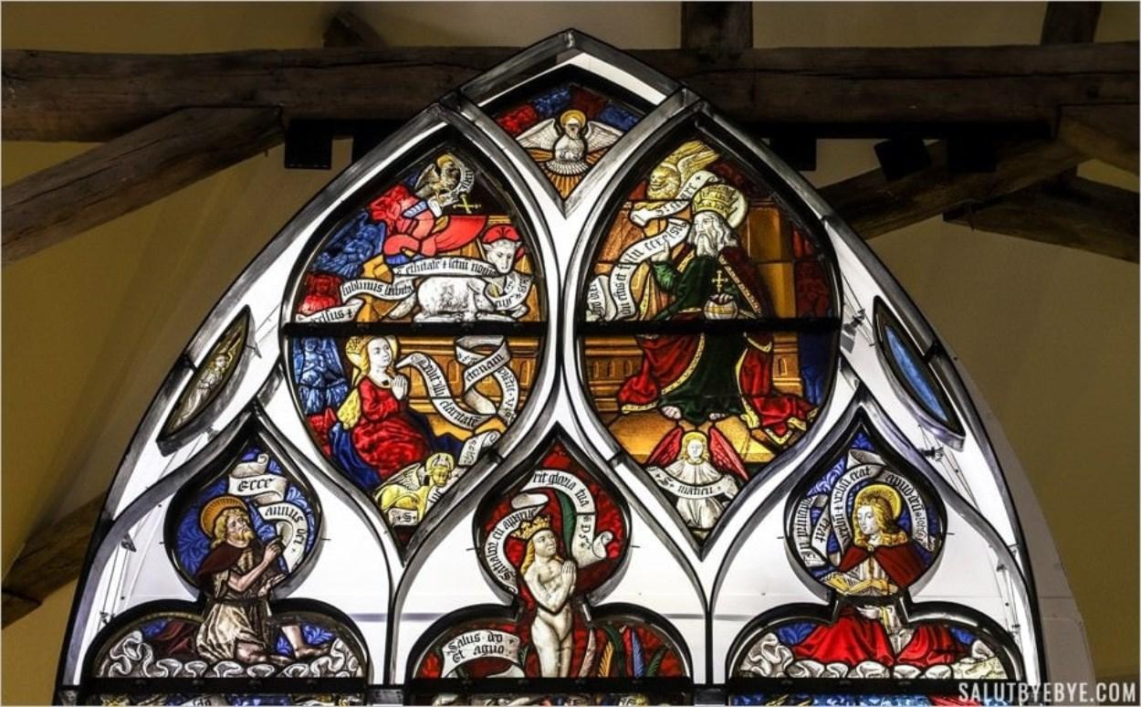 Les Triomphes de Pétrarque en vitrail