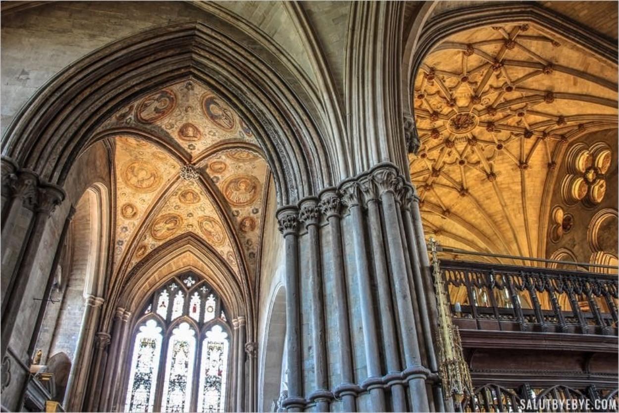 Détail du plafond - Cathédrale de Winchester