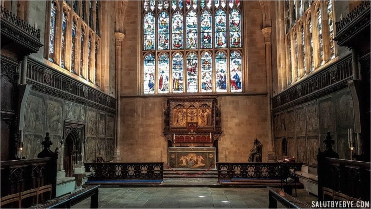 Intérieur de la cathédrale de Winchester