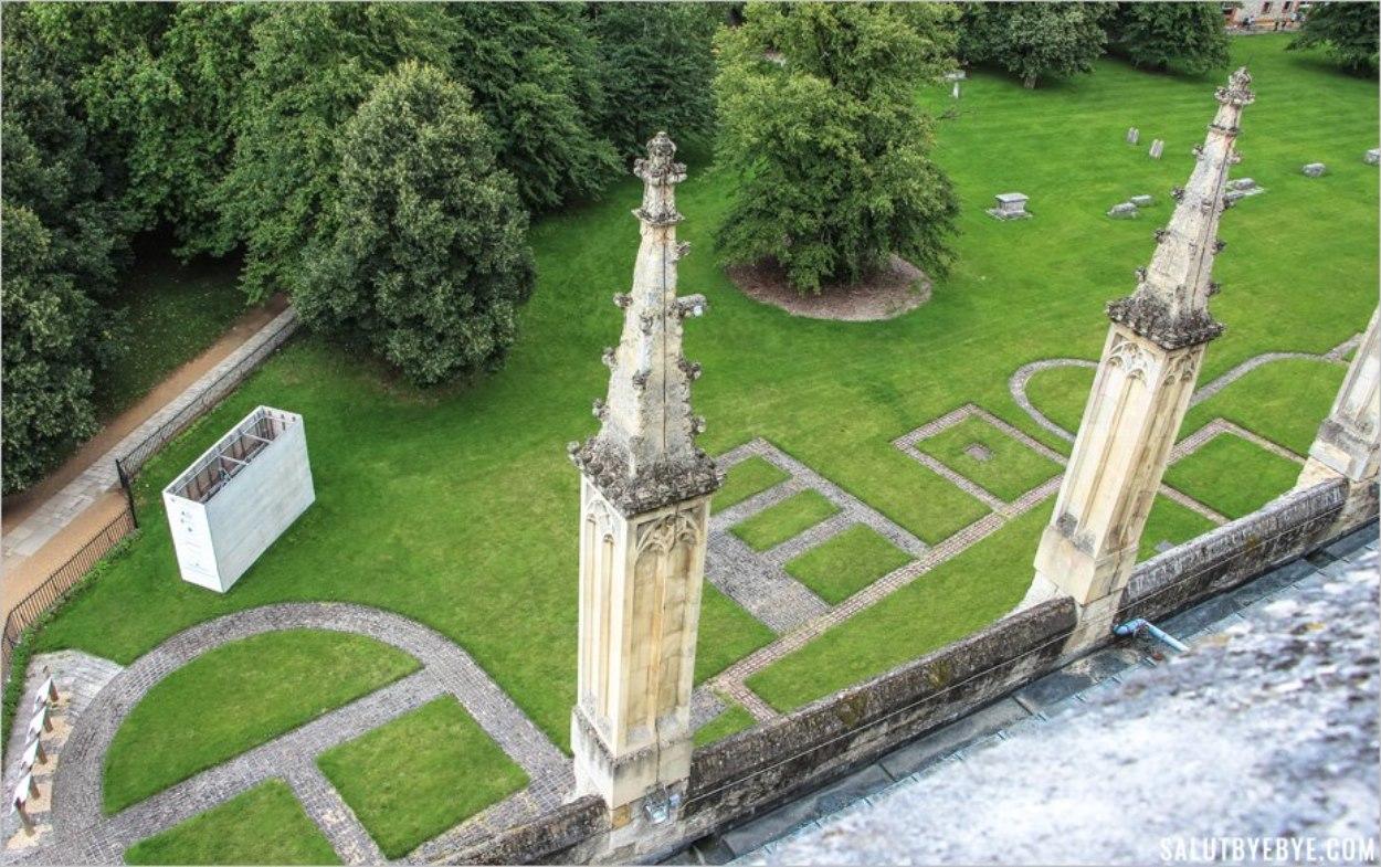 Old Minster vue depuis le toit de la cathédrale de Winchester en Angleterre