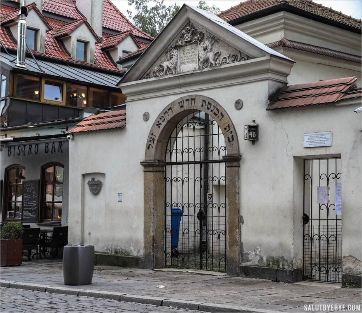 Entrée de la synagogue Remuh à Cracovie