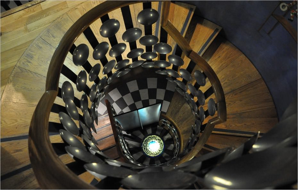 L'escalier du Magic Circle de Londres