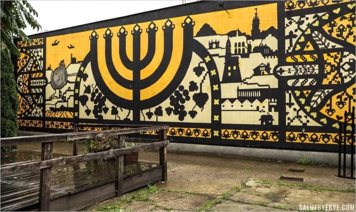 Fresque street art au Musée Juif de Galicie
