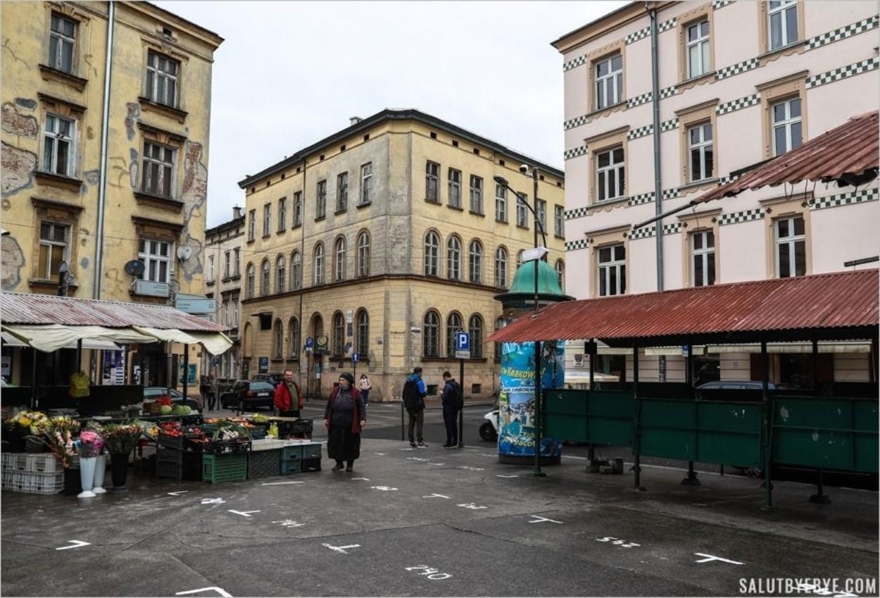 La Plac Nowy dans le quartier de Kazimierz à Cracovie