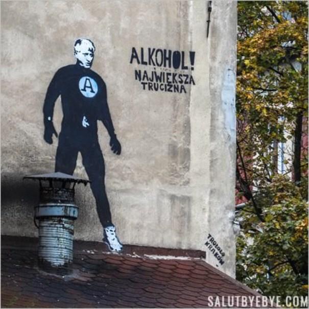 Street art à Cracovie