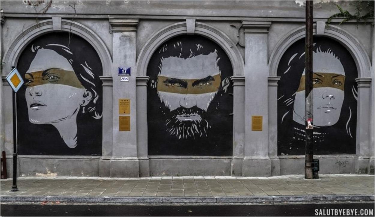 Street art à Cracovie - Rue Jozefa