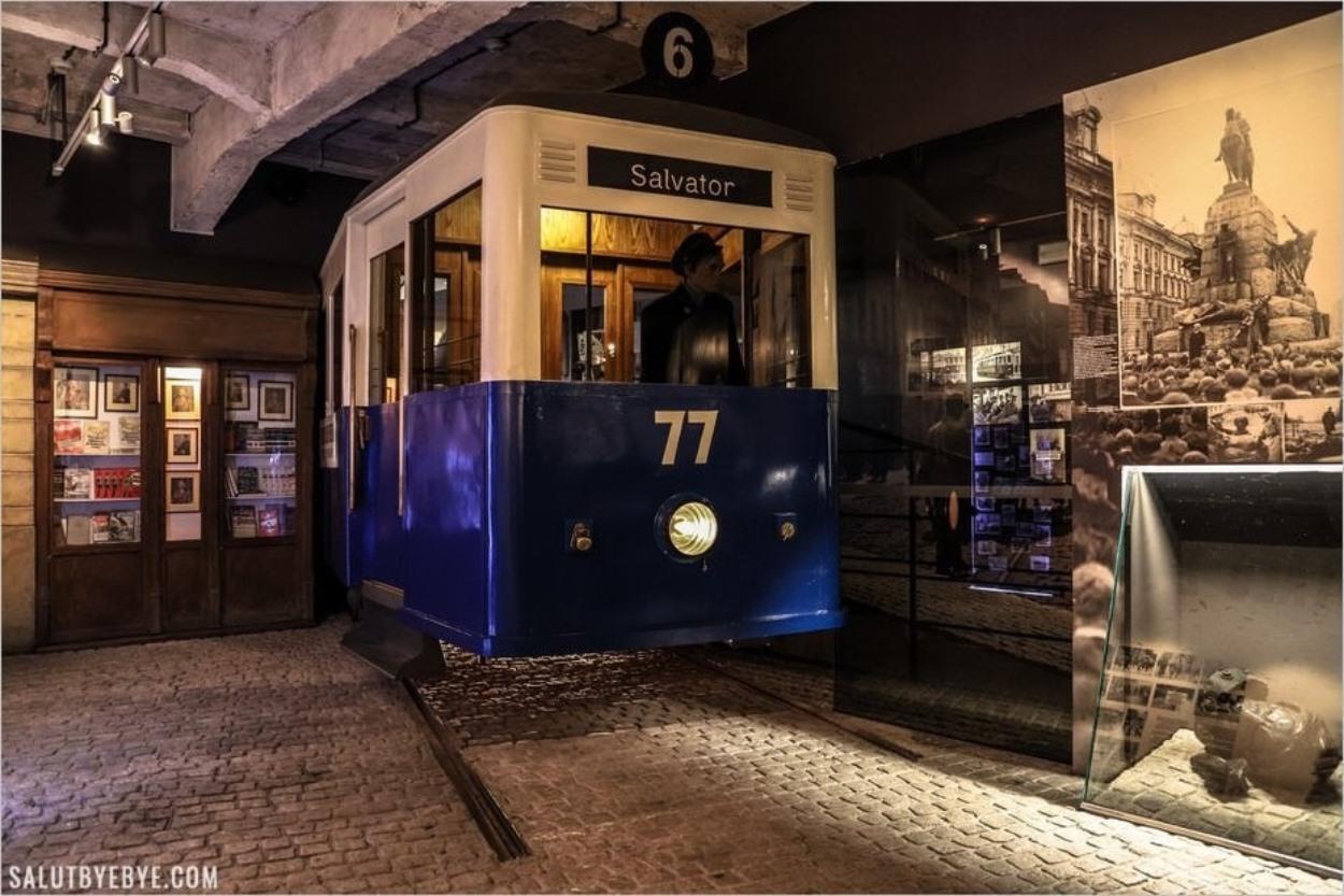 Tramway dans l'ancienne usine d'Oskar Schindler