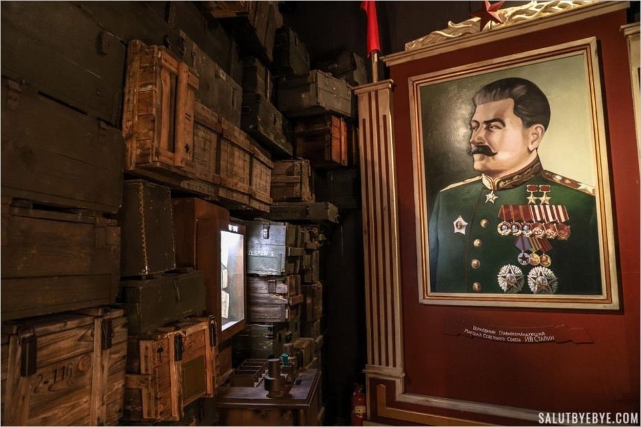 Portrait de Staline - Musée Schindler, Cracovie, Pologne