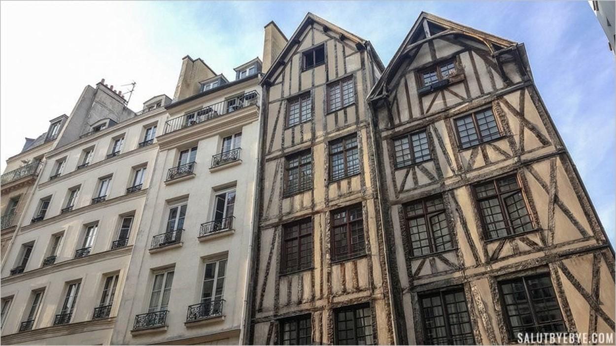 Maisons à colombages - Rue François Miron à Paris