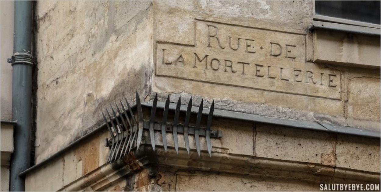 Le vieux nom de la Rue de la Mortellerie à Paris