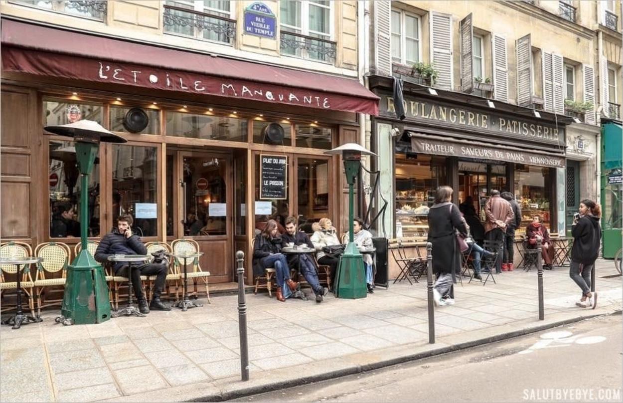 Rue Vieille du Temple dans le Marais parisien