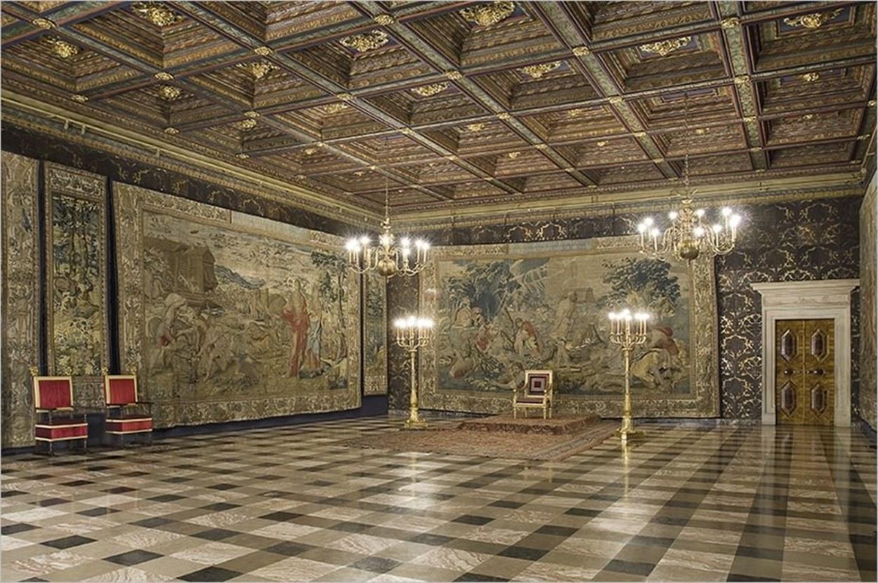 Intérieur du château du Wawel à Cracovie