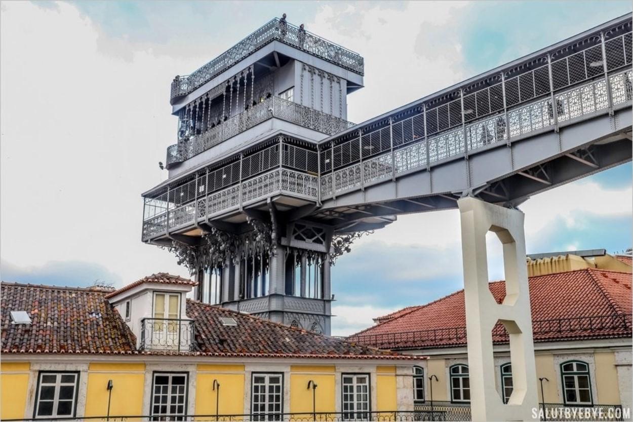 L'ascenseur de Santa Justa à Lisbonne