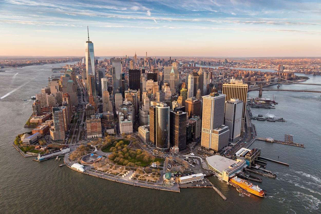 New York depuis un hélicoptère