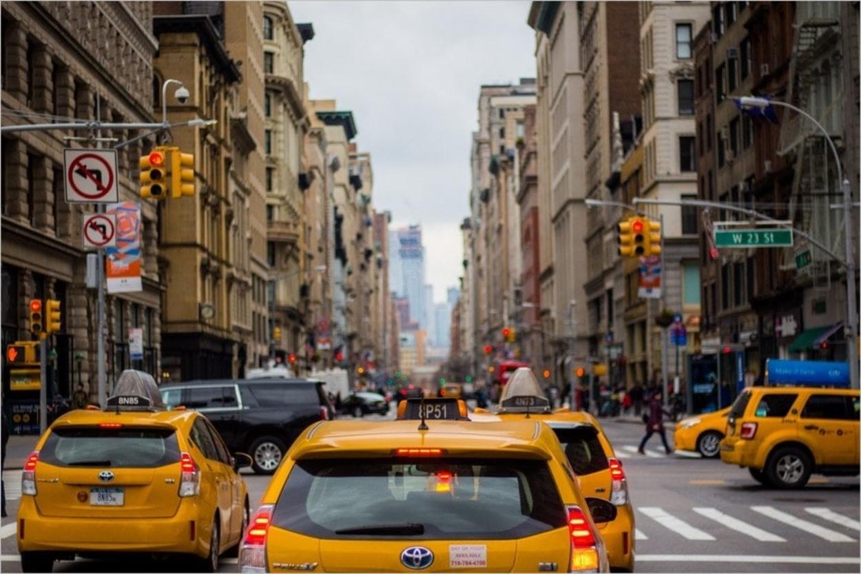 Les taxis jaunes emblématiques de New York