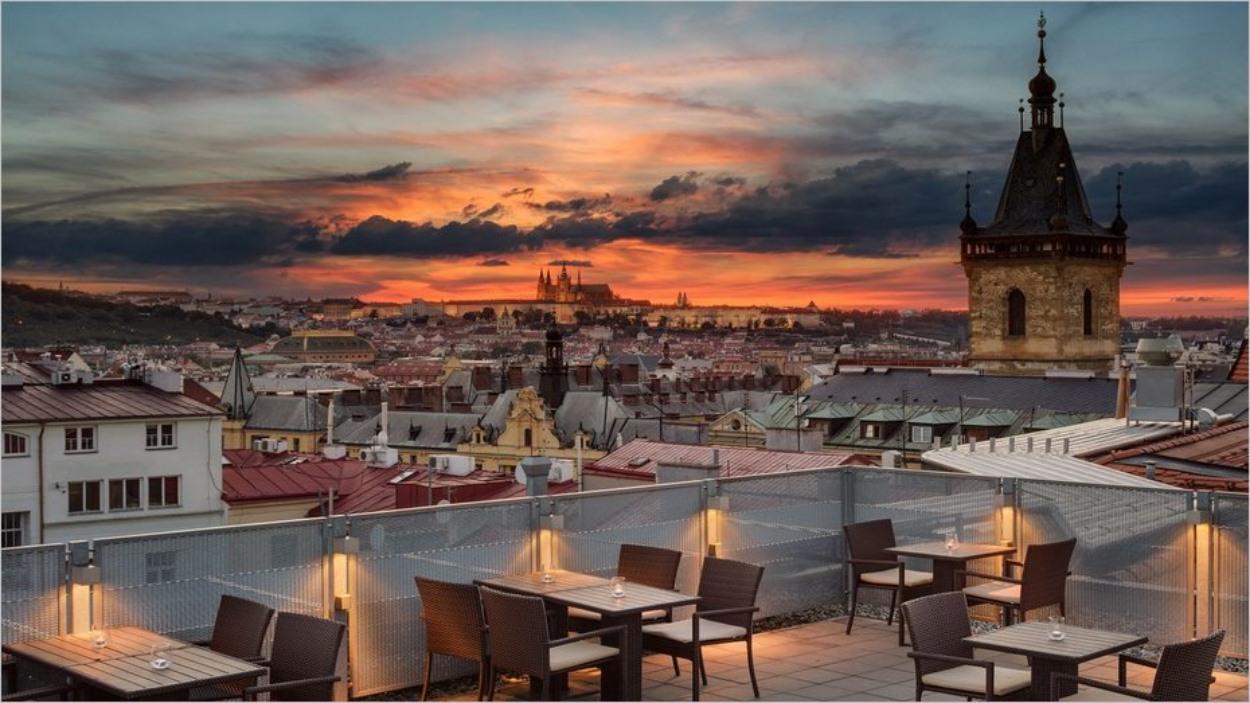 Terrasse du Sheraton Prague