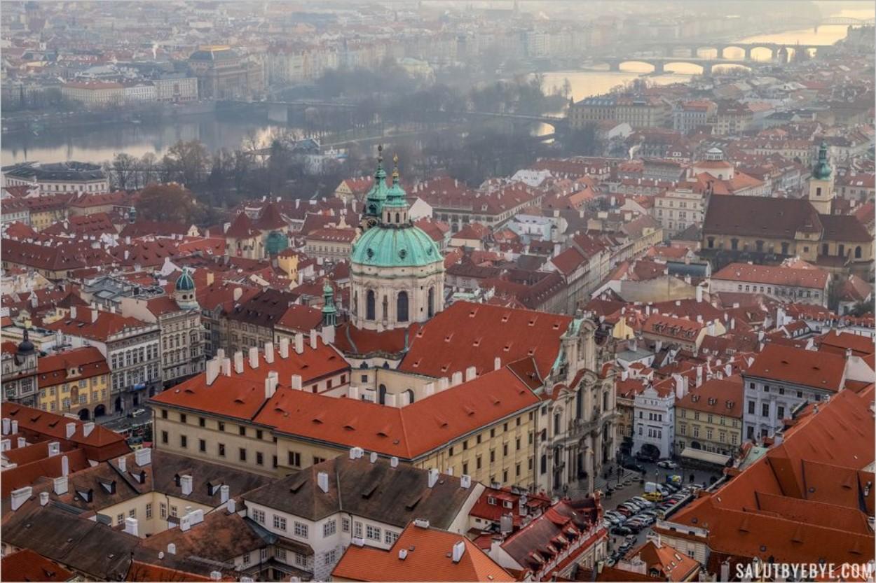 Belle vue de Prague depuis la cathédrale St Vitus
