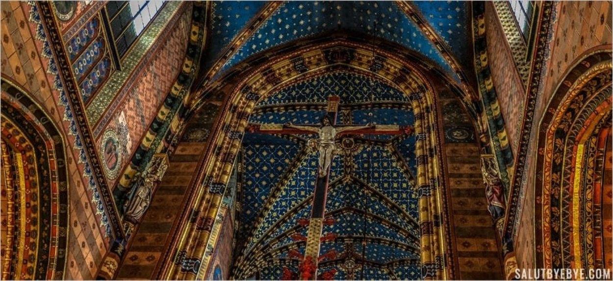 Le Christ de la basilique Sainte-Marie de Cracovie