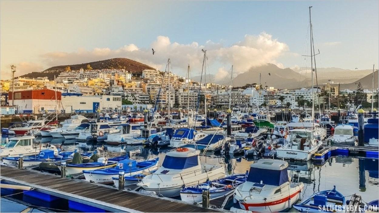 Port de Los Cristianos à Tenerife