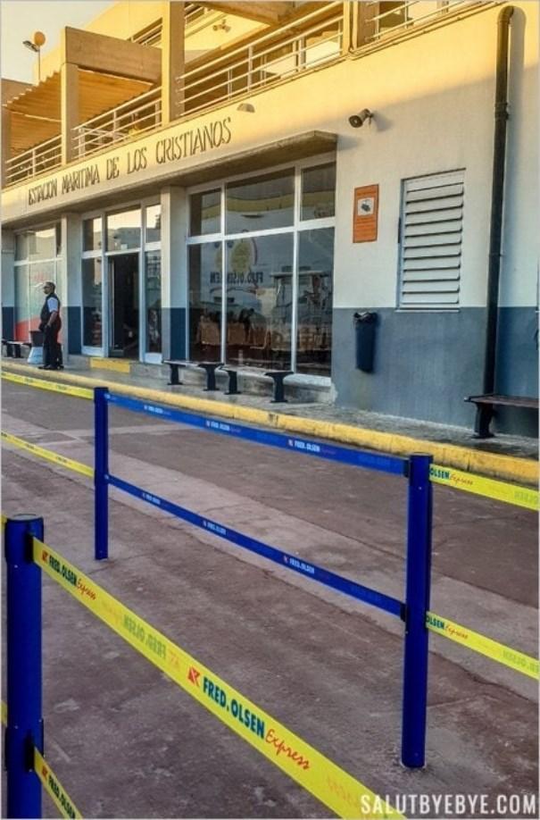 Accueil passagers au port de Los Cristianos