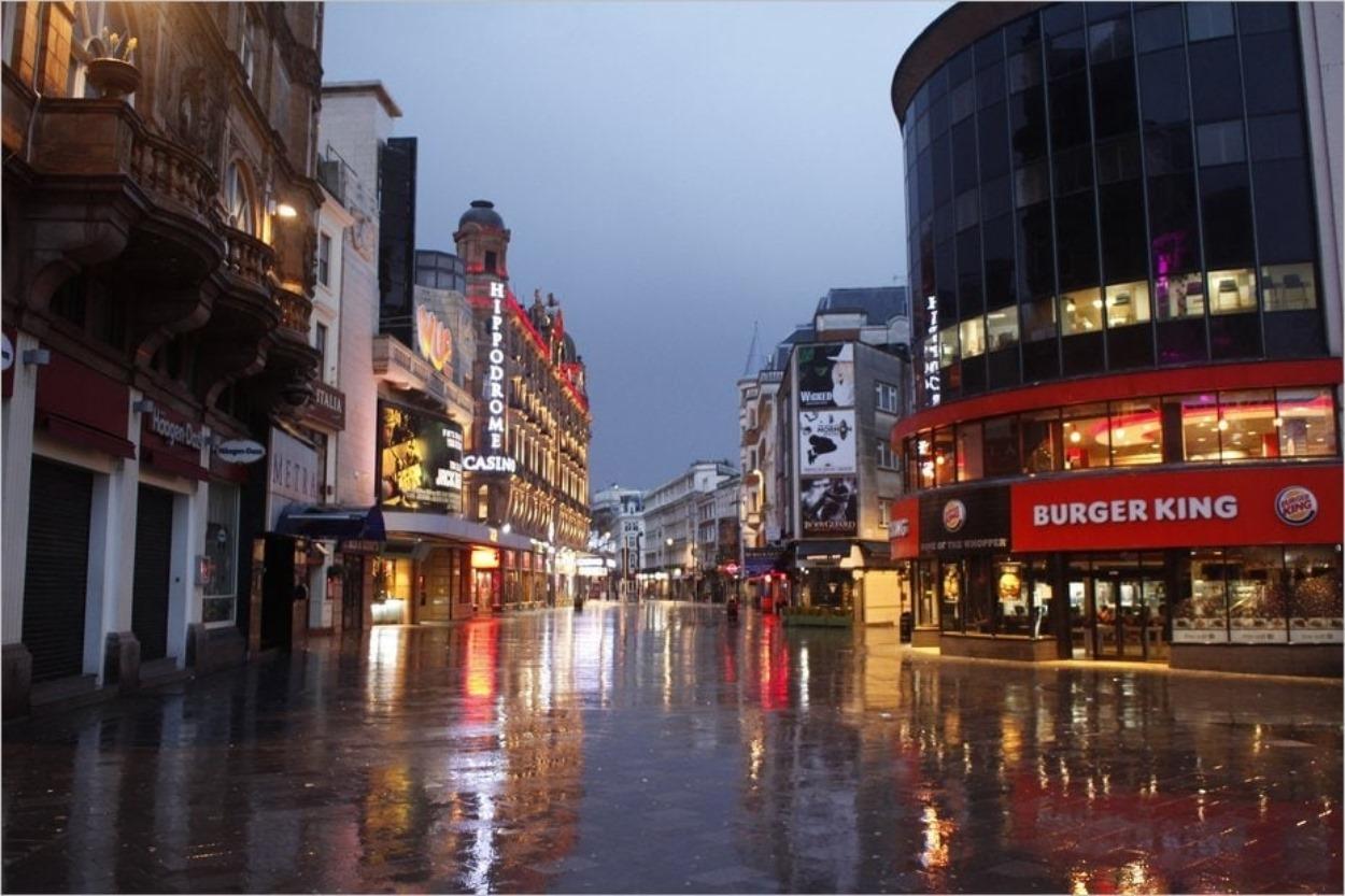 Leicester Square désert le 25 décembre