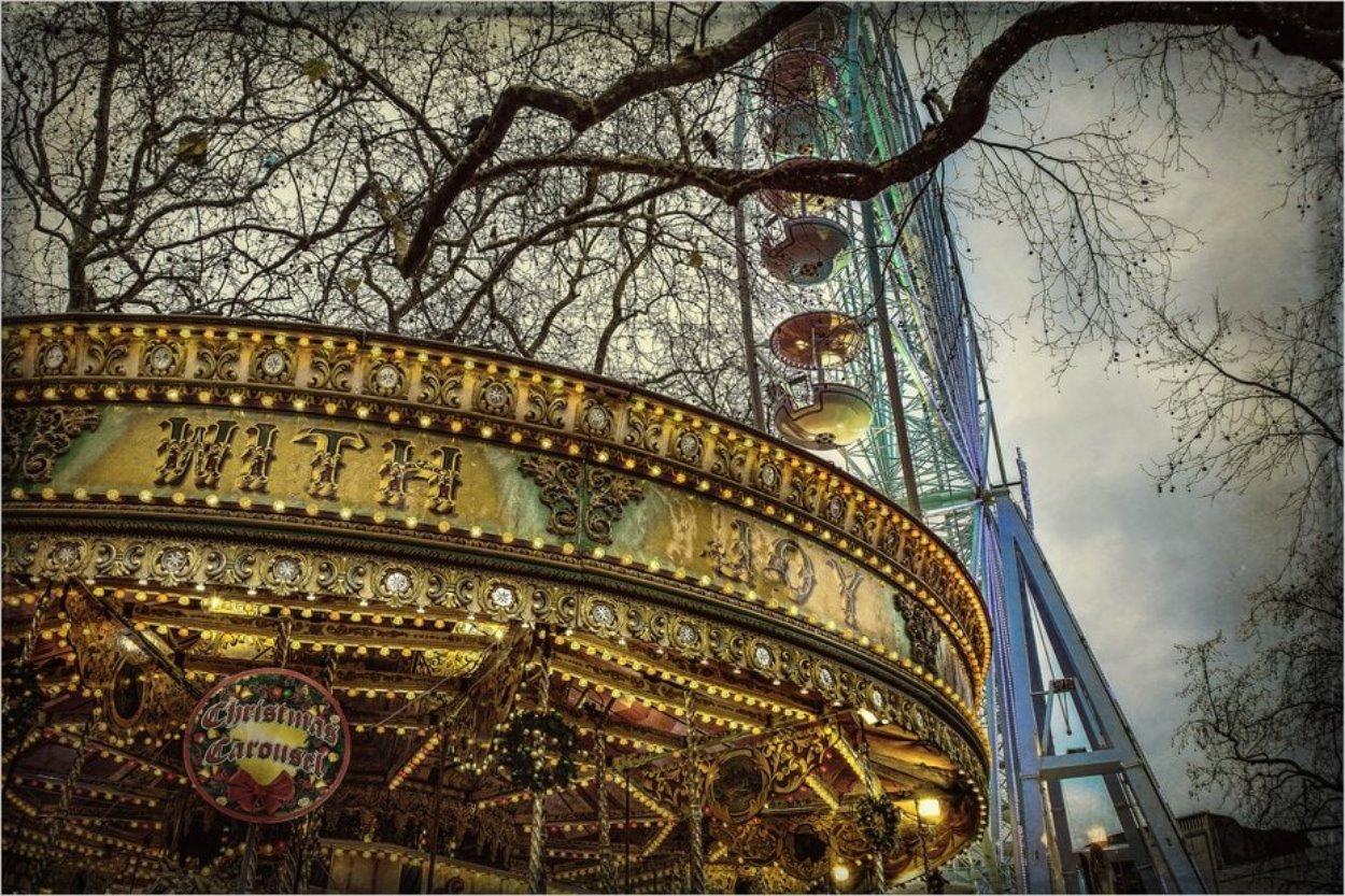 Noël près de Leicester Square à Londres