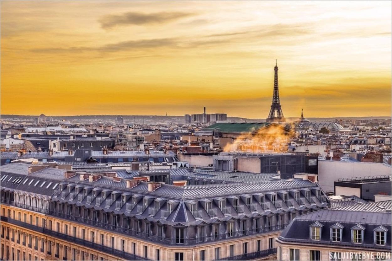 Vue depuis la terrasse des Galeries Lafayette à Paris