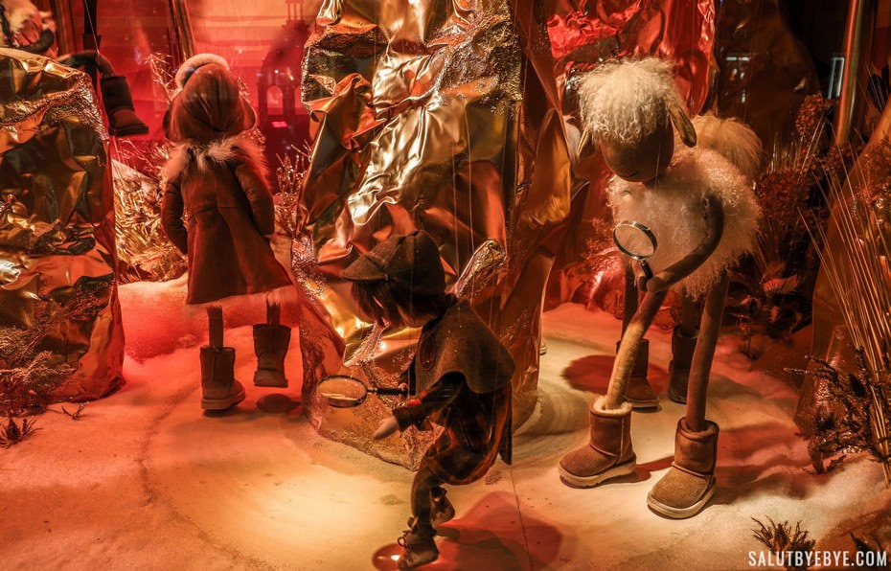 Vitrines de Noël 2018 du Printemps Haussmann