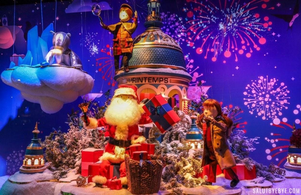 Le Père Noël des vitrines du Printemps Haussmann