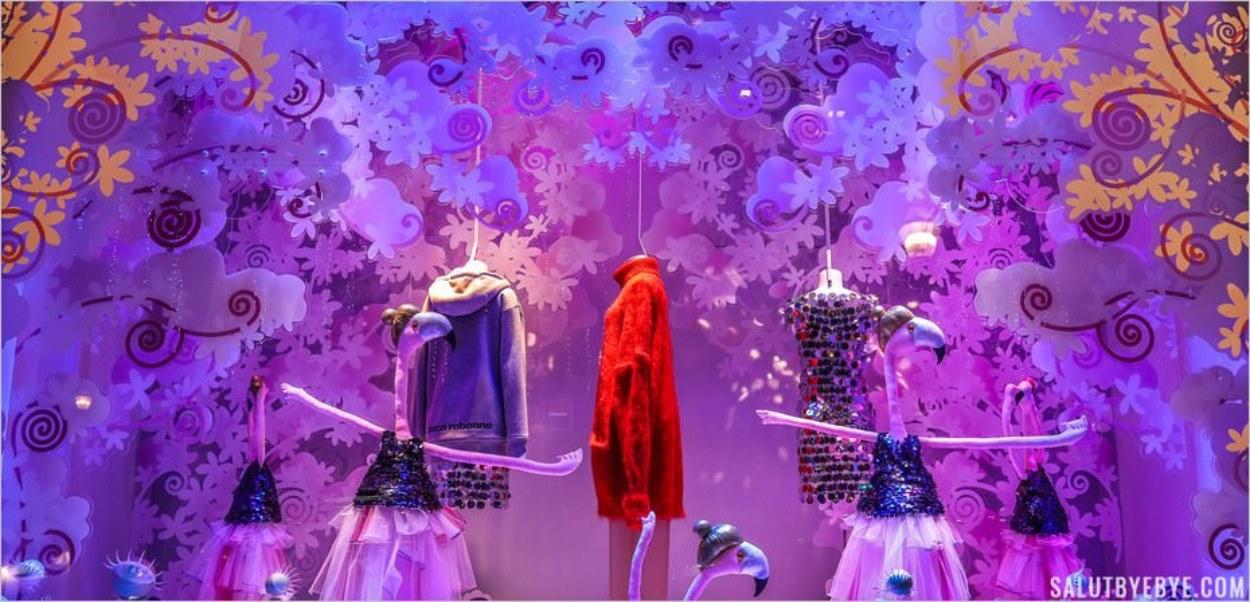 Vitrines de Noël des Galeries Lafayette - Le manteau de neige