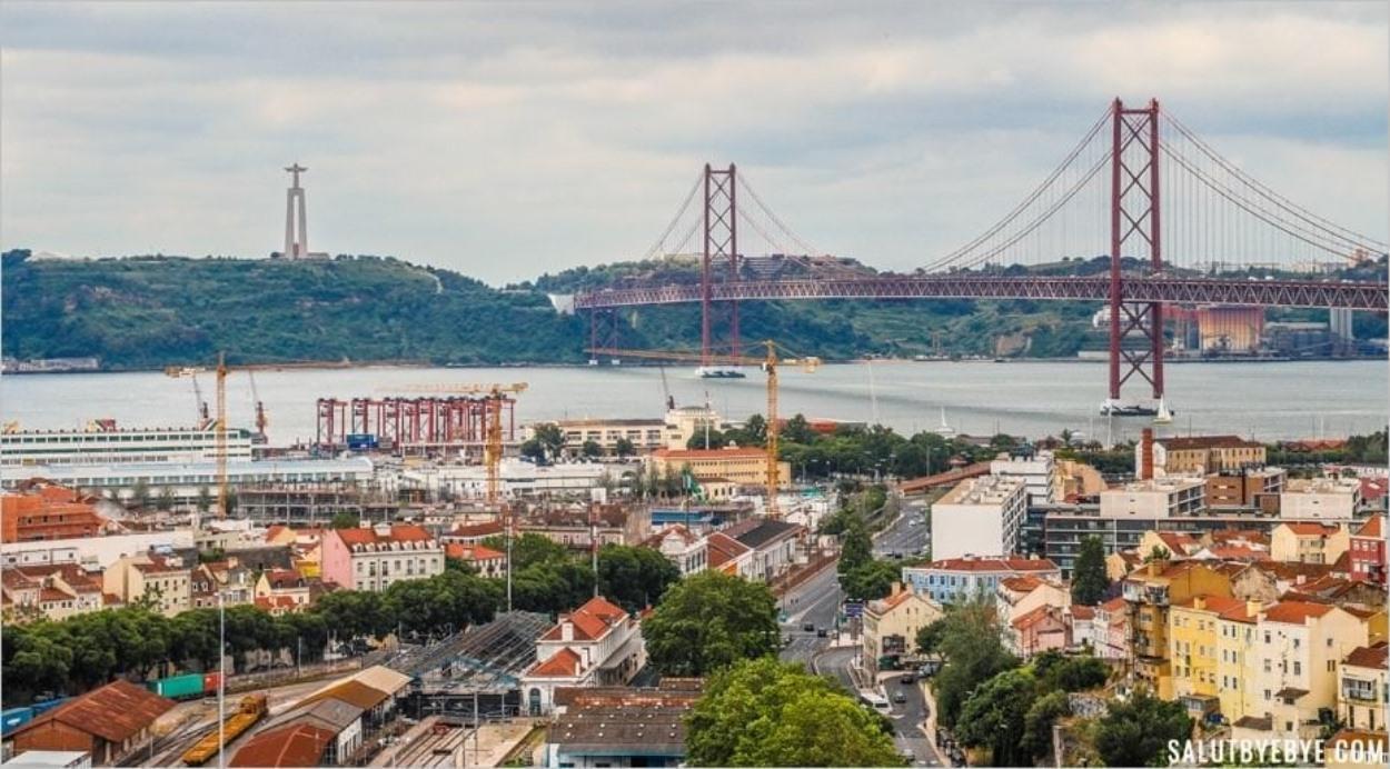 Le pont du 25 avril vu depuis le Cemitério dos Prazeres