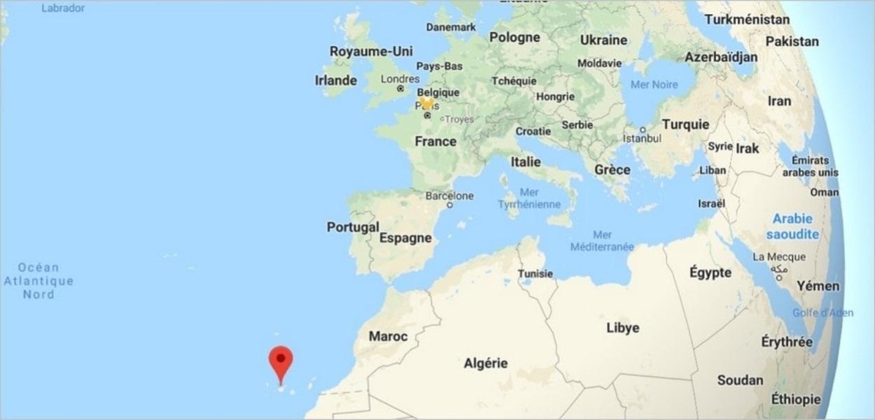 Localisation de Tenerife dans les Canaries