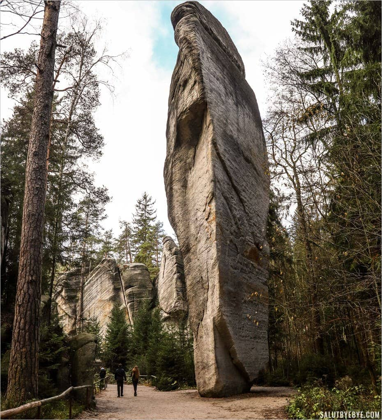Le cornet de glace, parc d'Adrspach Teplice en République Tchèque