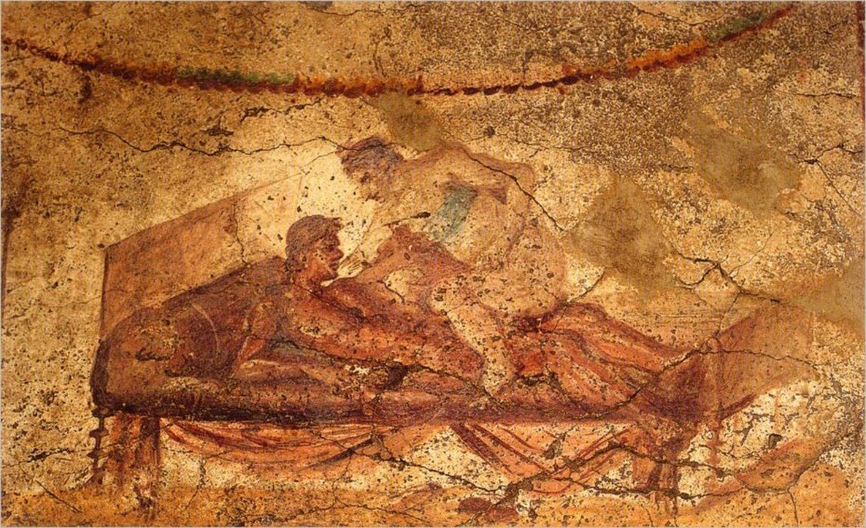 Fresque dans le lupanar de Pompei