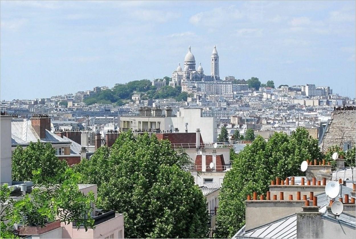 Montmartre depuis la Butte Bergeyre
