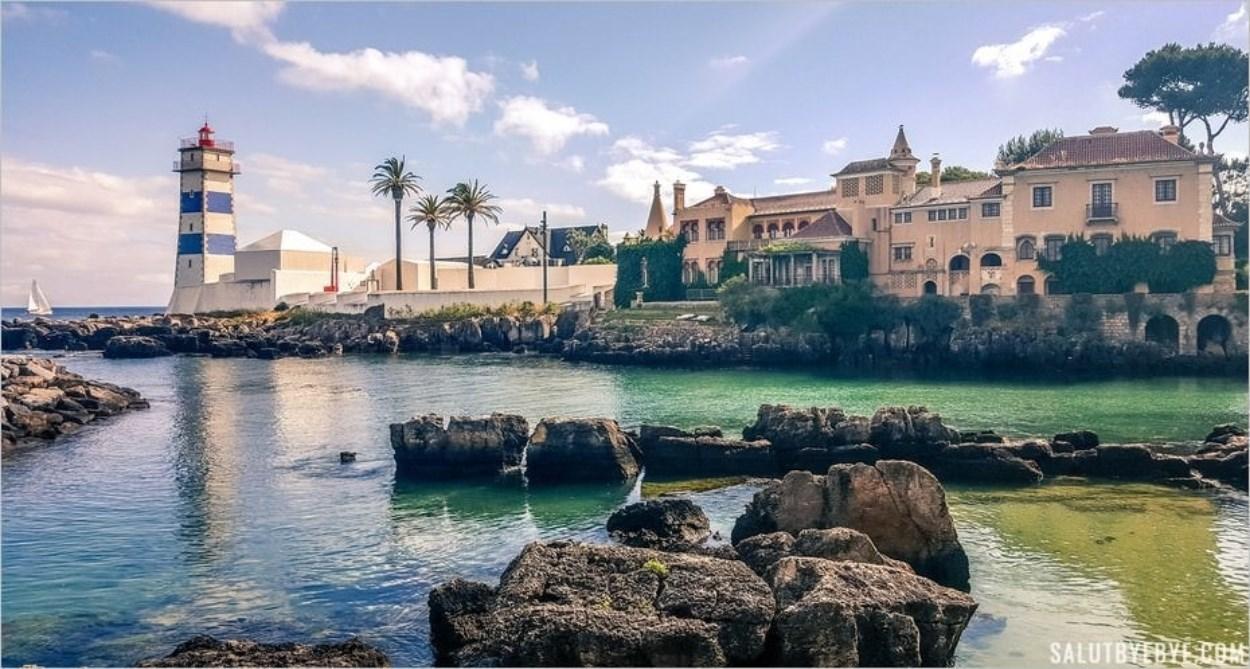 Phare de Santa Marta à Cascais au Portugal