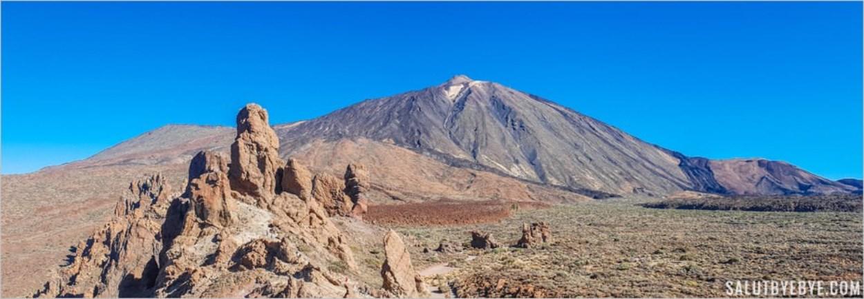 Le Teide vu depuis les Roques de Garcia