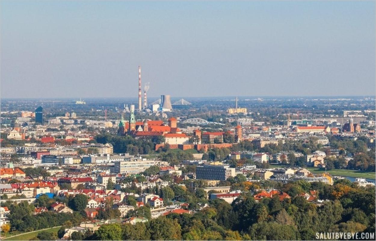 Vue depuis le tumulus Kosciuszko à Cracovie