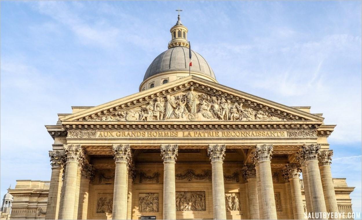 La façade du Panthéon de Paris