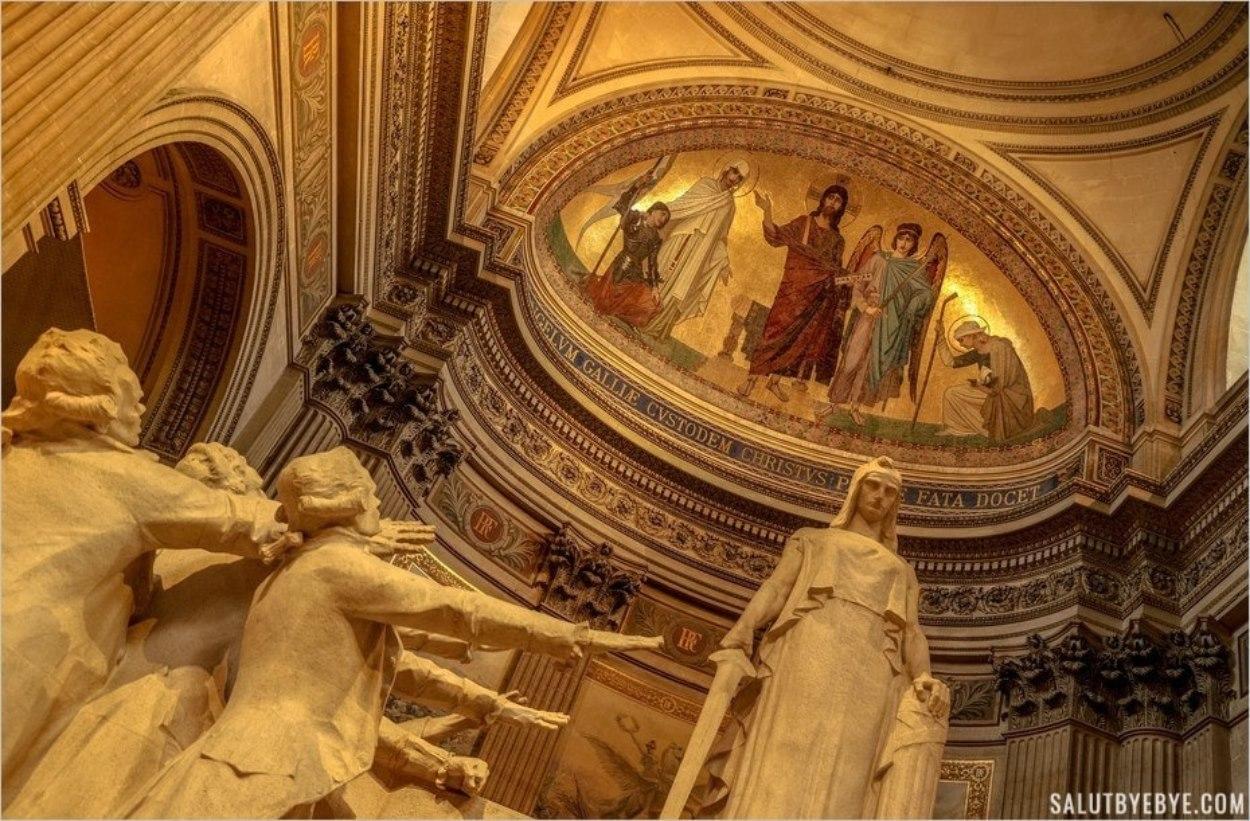 Sculpture de la Convention Nationale au Panthéon