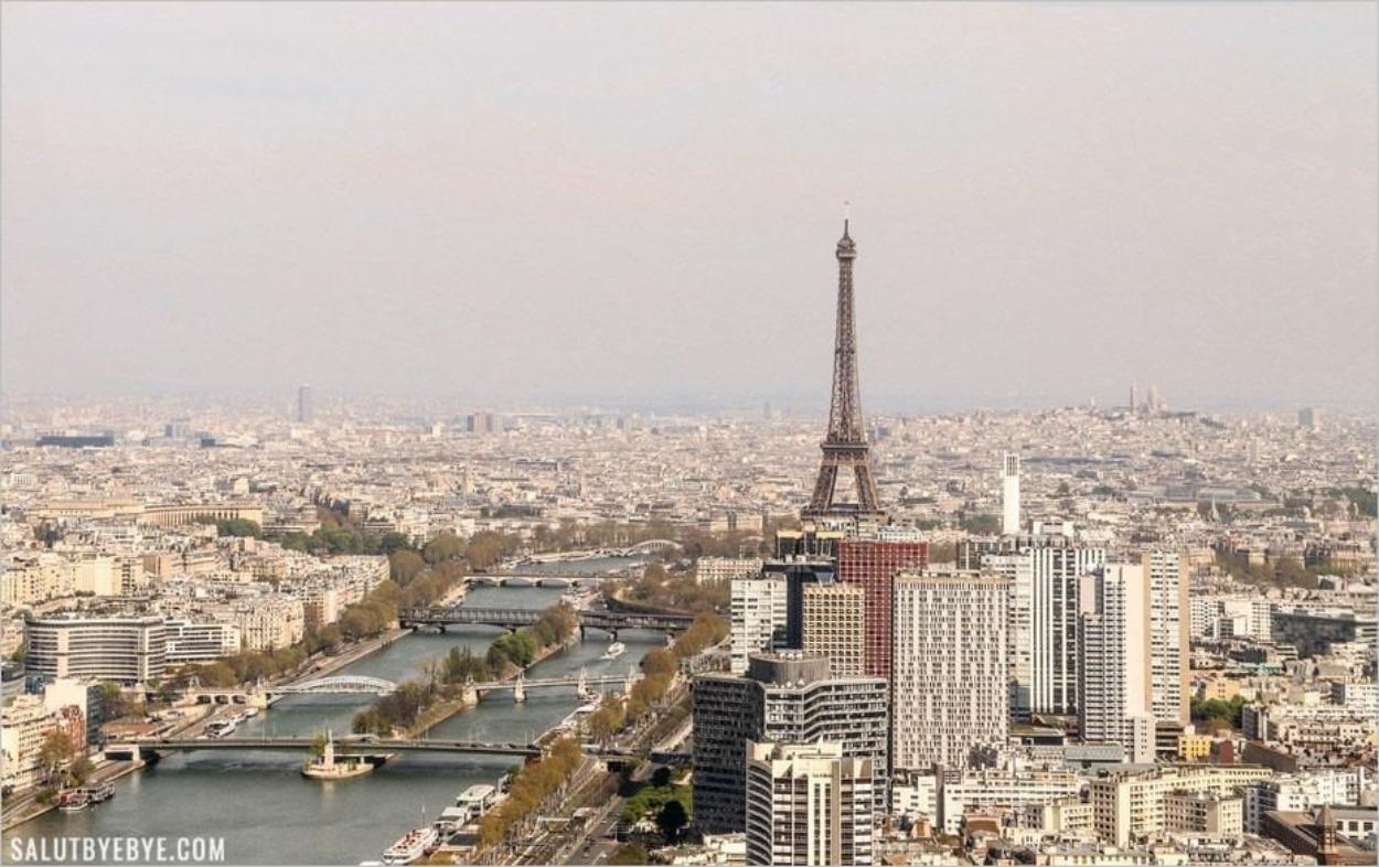 Vol en hélicoptère au-dessus de Paris : la Tour Eiffel
