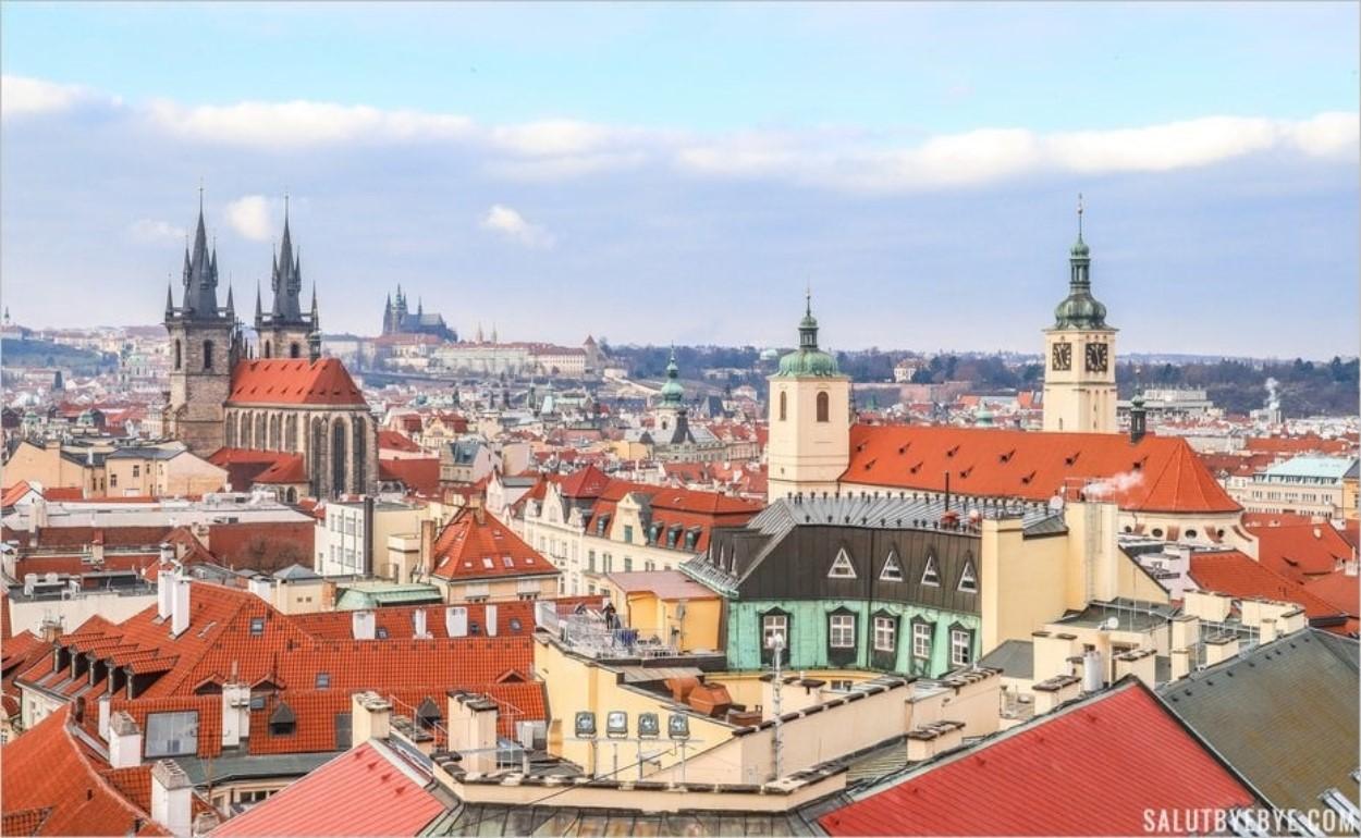 Vue depuis la Tour Poudrière de Prague