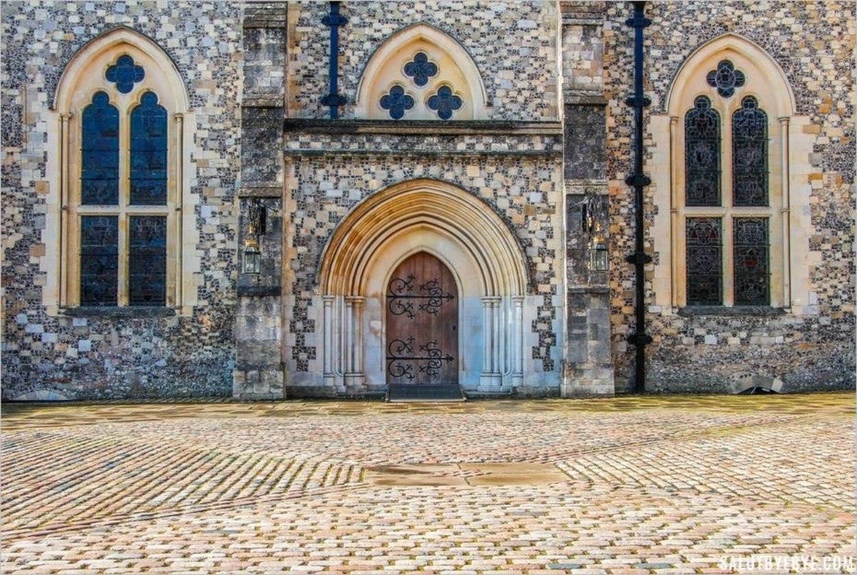 L'entrée du Great Hall de Winchester