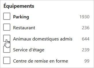 Réservation d'hôtel acceptant les animaux domestiques