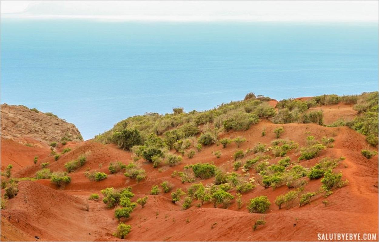 Sable rouge très martien à La Gomera
