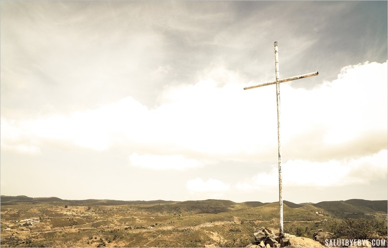 Croix au sommet de La Fortaleza