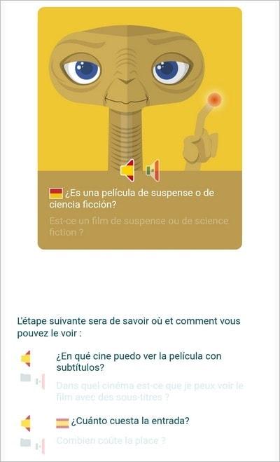 Une leçon d'espagnol sur Wlingua
