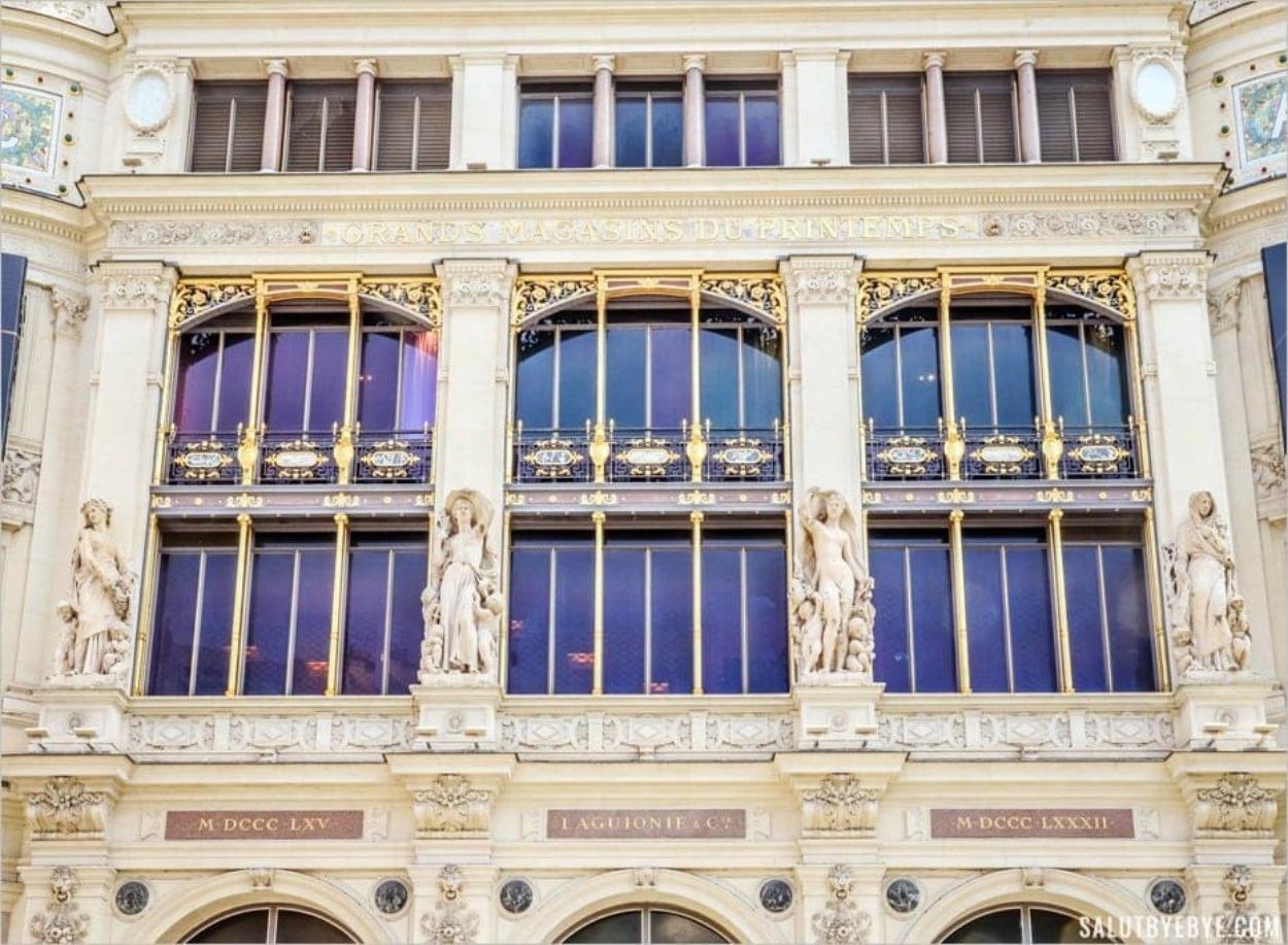 La façade du Printemps côté rue du Havre