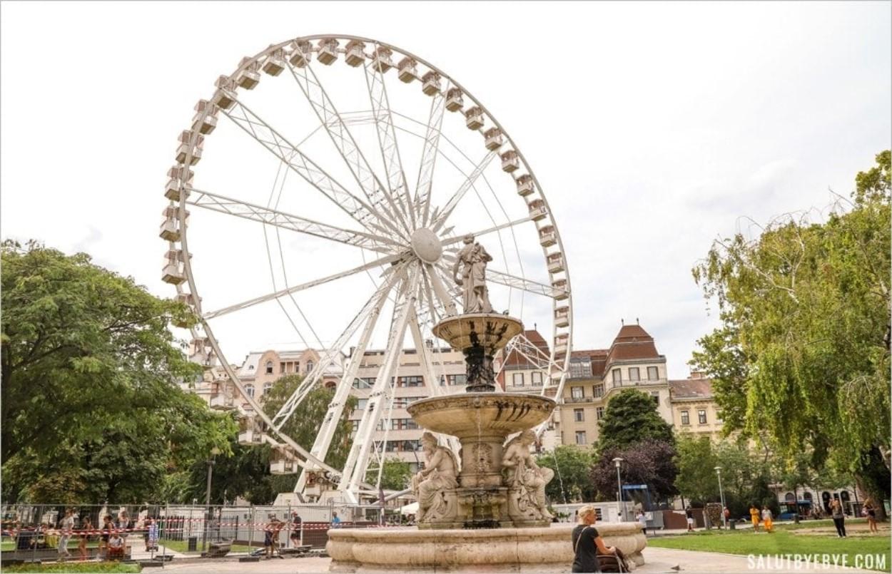 La fontaine Danubius à Budapest